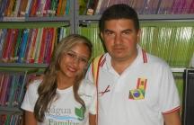 Maria Luana e o professor Francisco